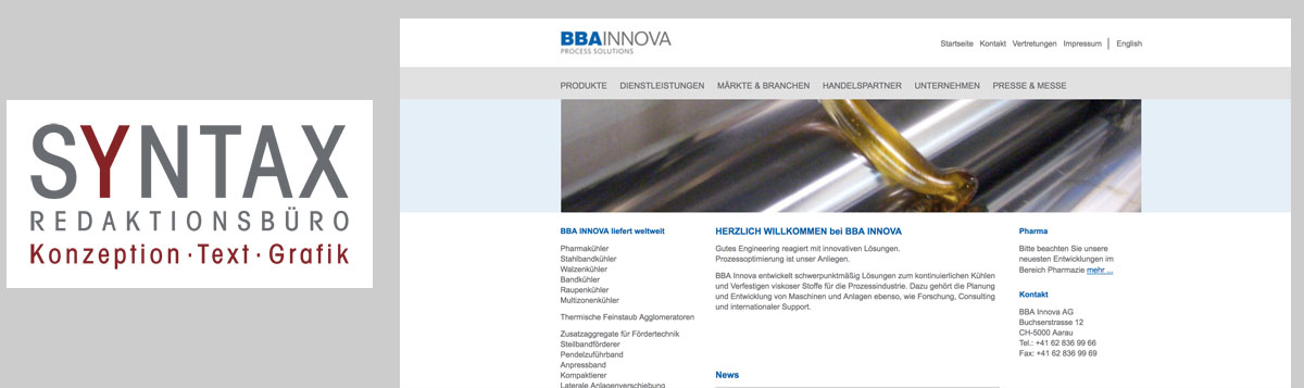 Website: Engineering / Maschinenbau